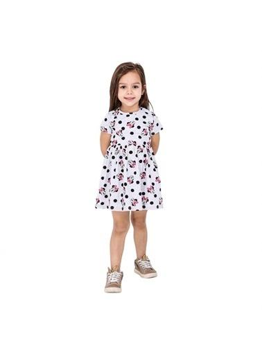 Quzucuk Kids Kız Çocuk Figürlü Gri Elbise Gri